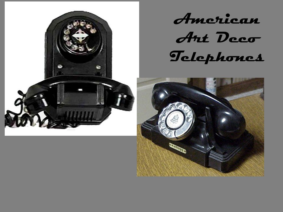American Art Deco Telephones