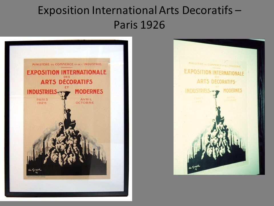 Exposition International Arts Decoratifs – Paris 1926