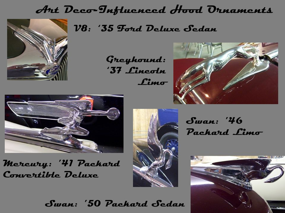 Art Deco-Influenced Hood Ornaments