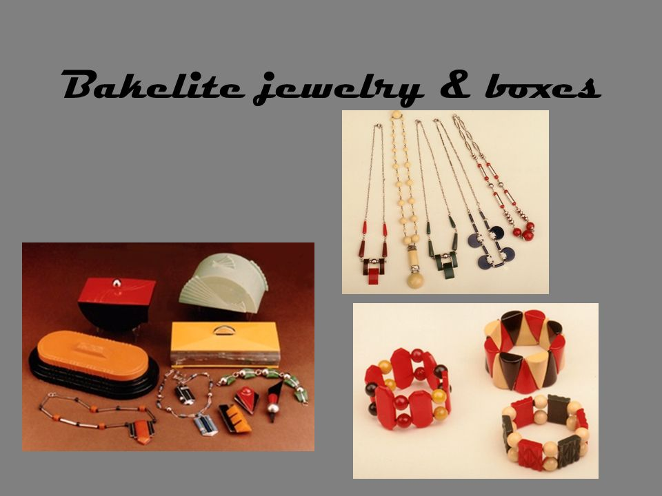 Bakelite jewelry & boxes