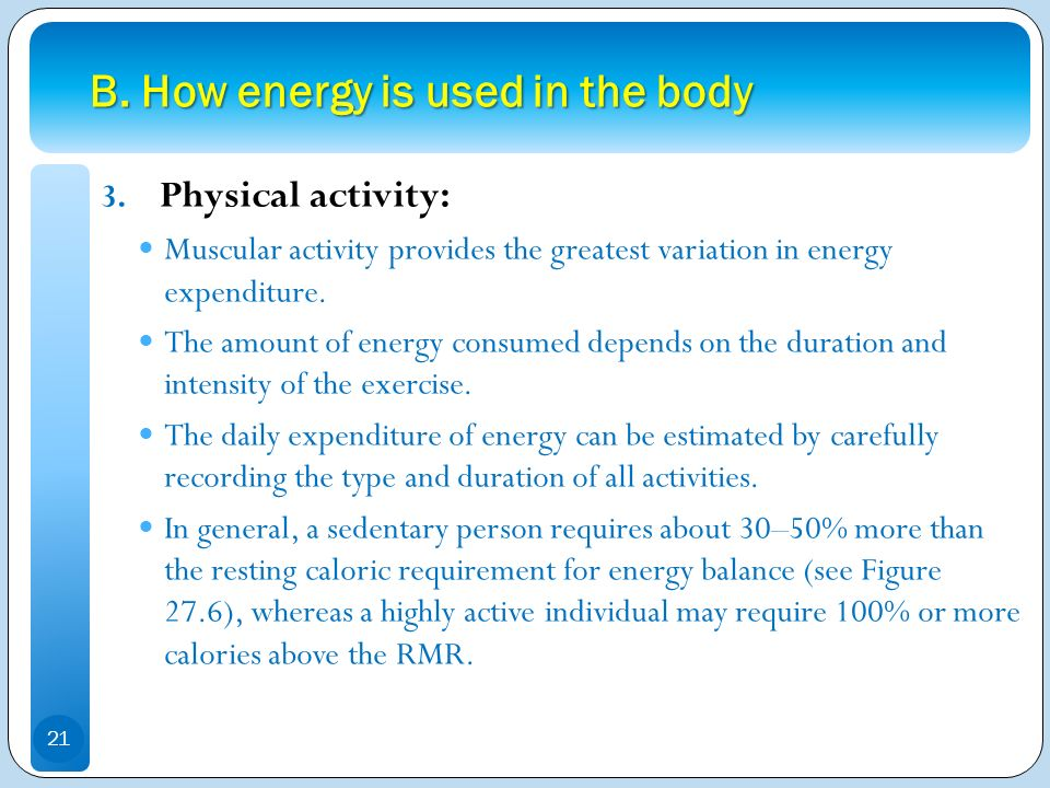 B. How energy is used in the body