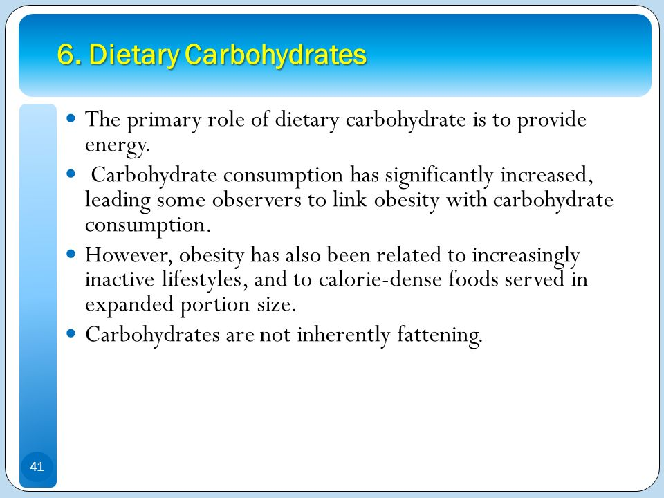 6. Dietary Carbohydrates