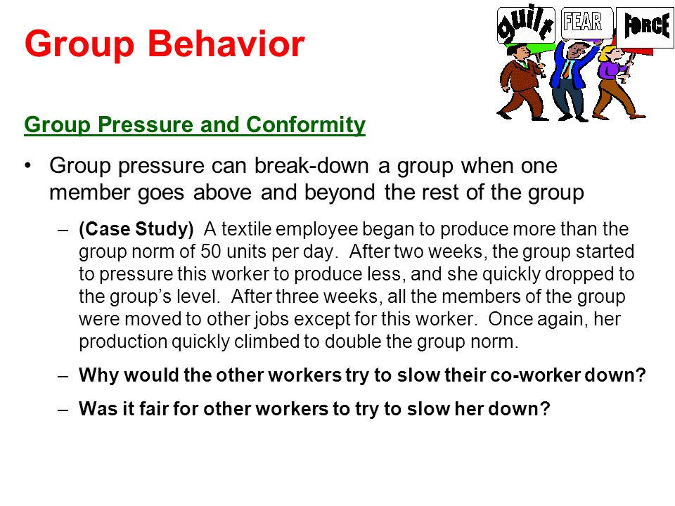 Group Behavior Group Pressure and Conformity