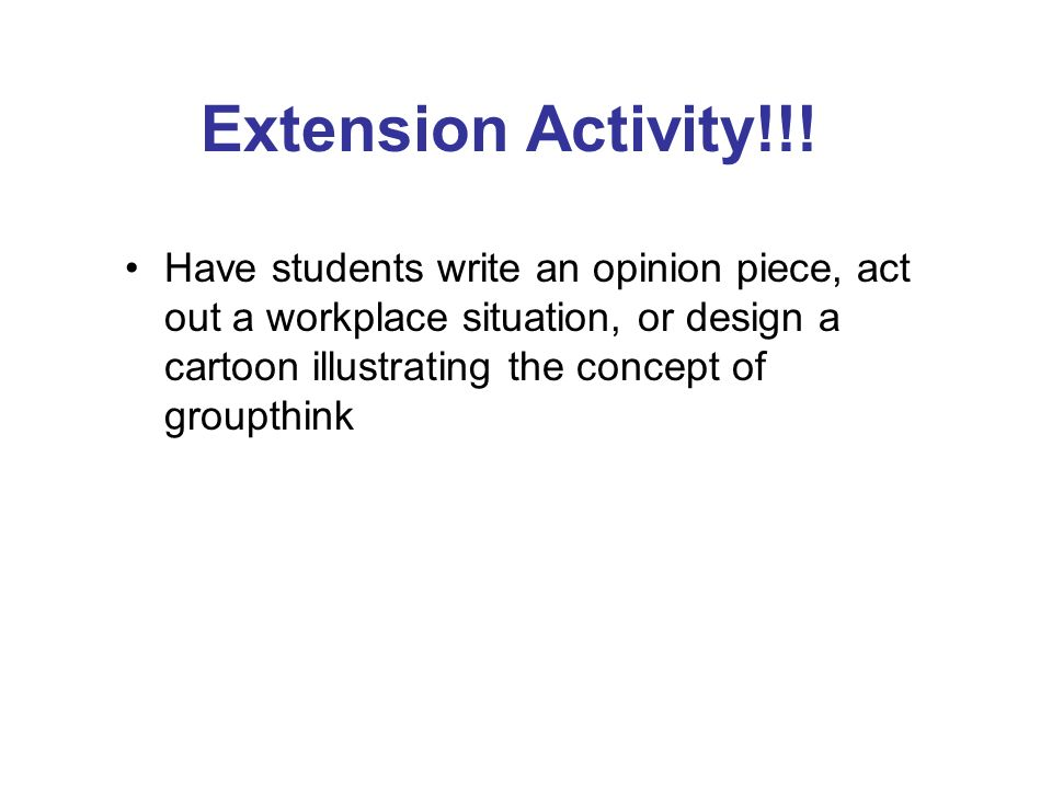 Extension Activity!!.