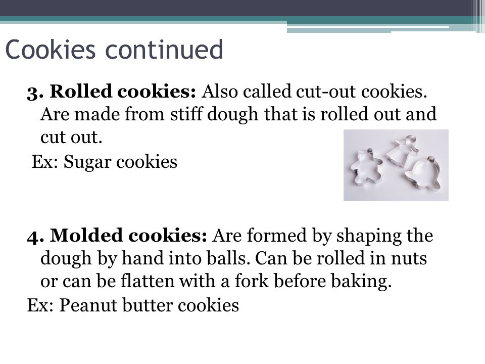 Cookies continued