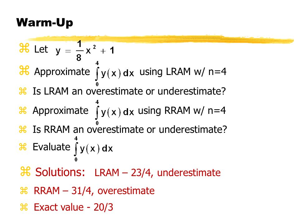 Approximate using LRAM w/ n=4