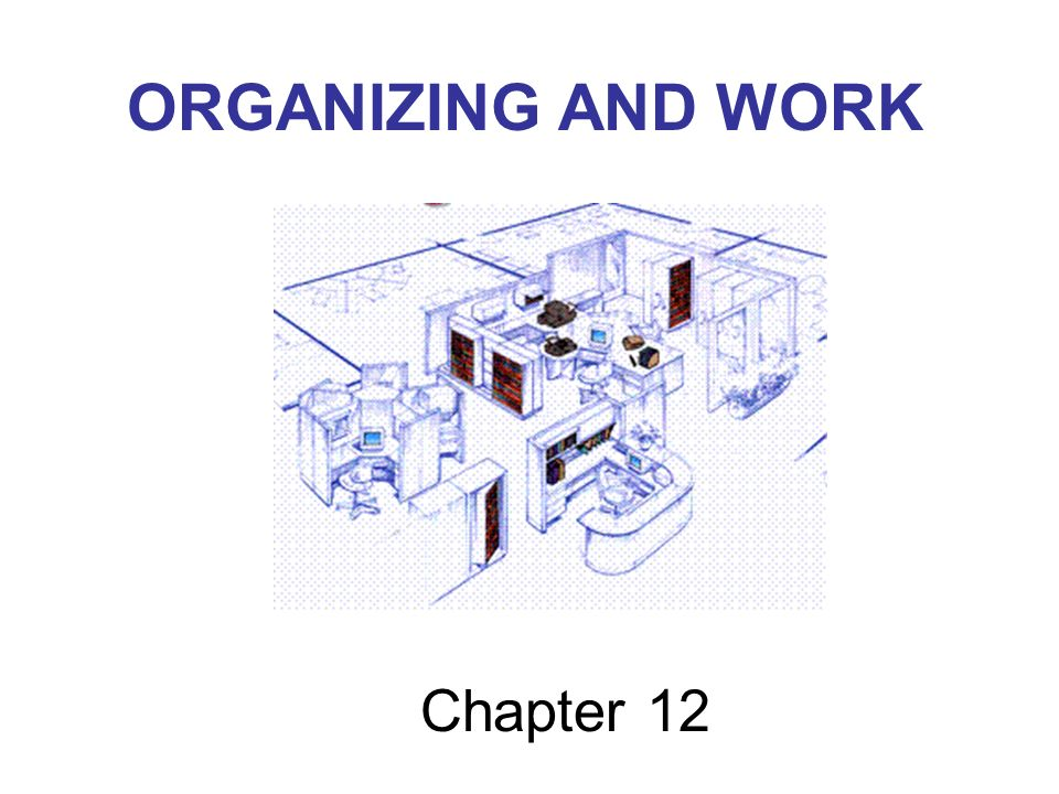 ORGANIZING AND WORK Chapter 12