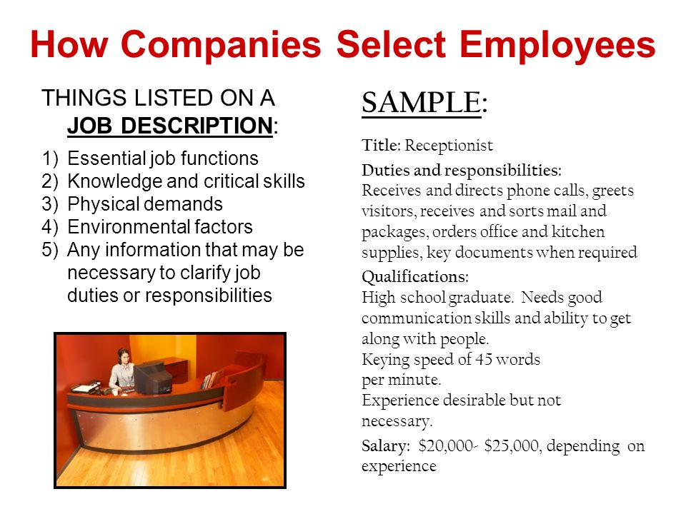 How Companies Select Employees