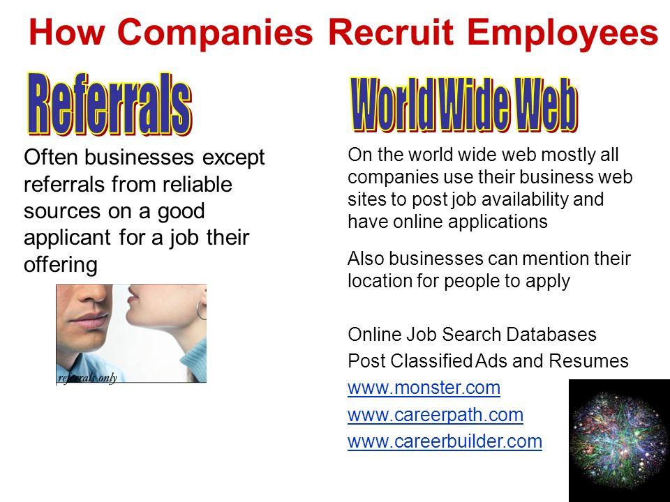 How Companies Recruit Employees
