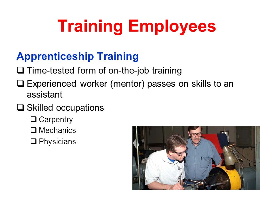 Training Employees Apprenticeship Training