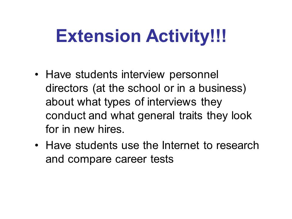 Extension Activity!!!