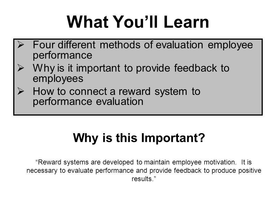 Employee Evaluation Importance What Is Employee Performance