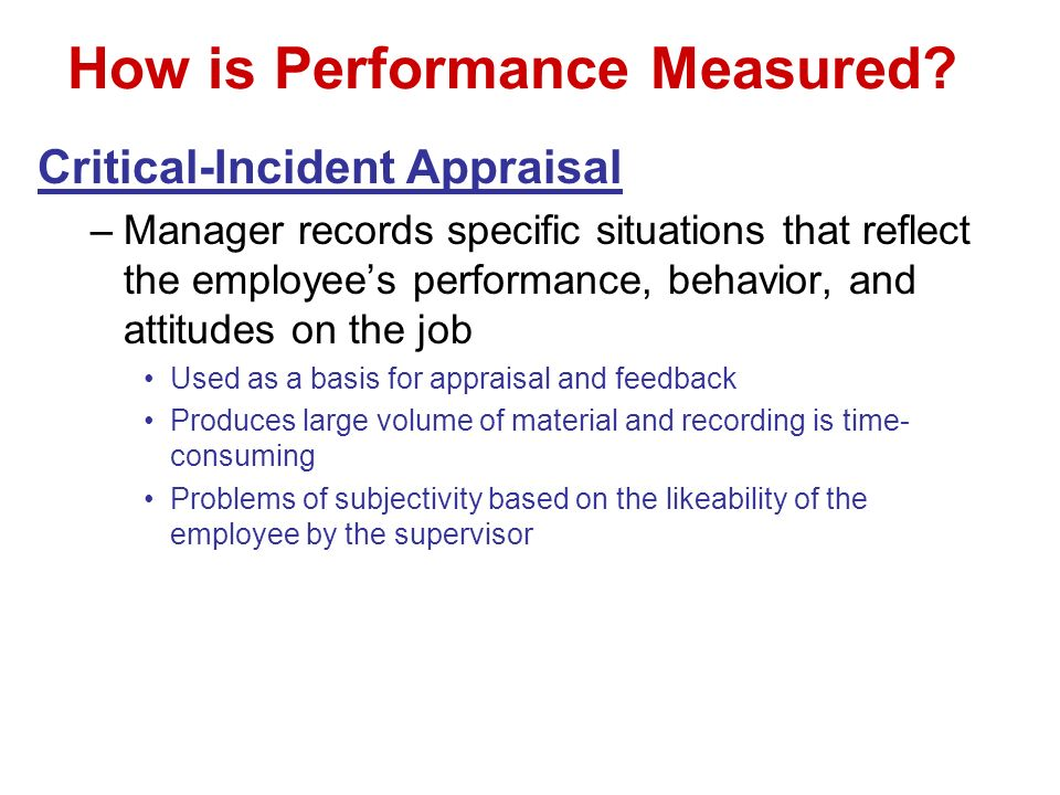 How is Performance Measured