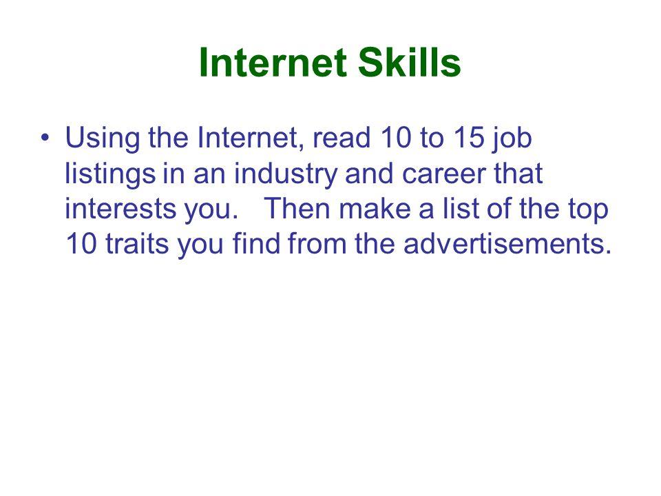Internet Skills