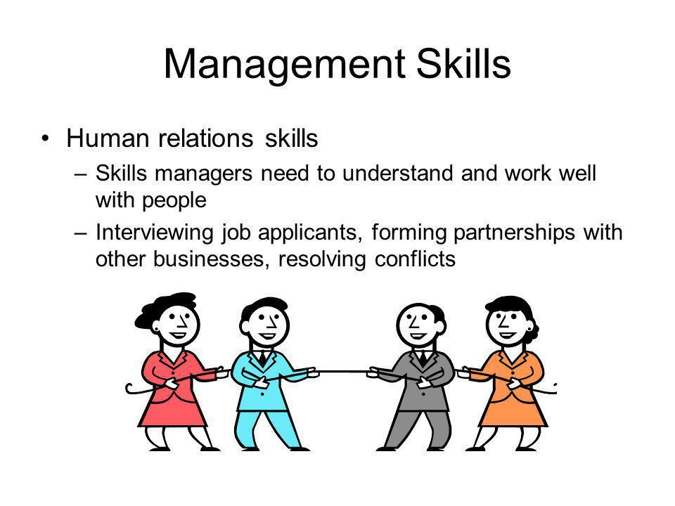 Management Skills Human relations skills