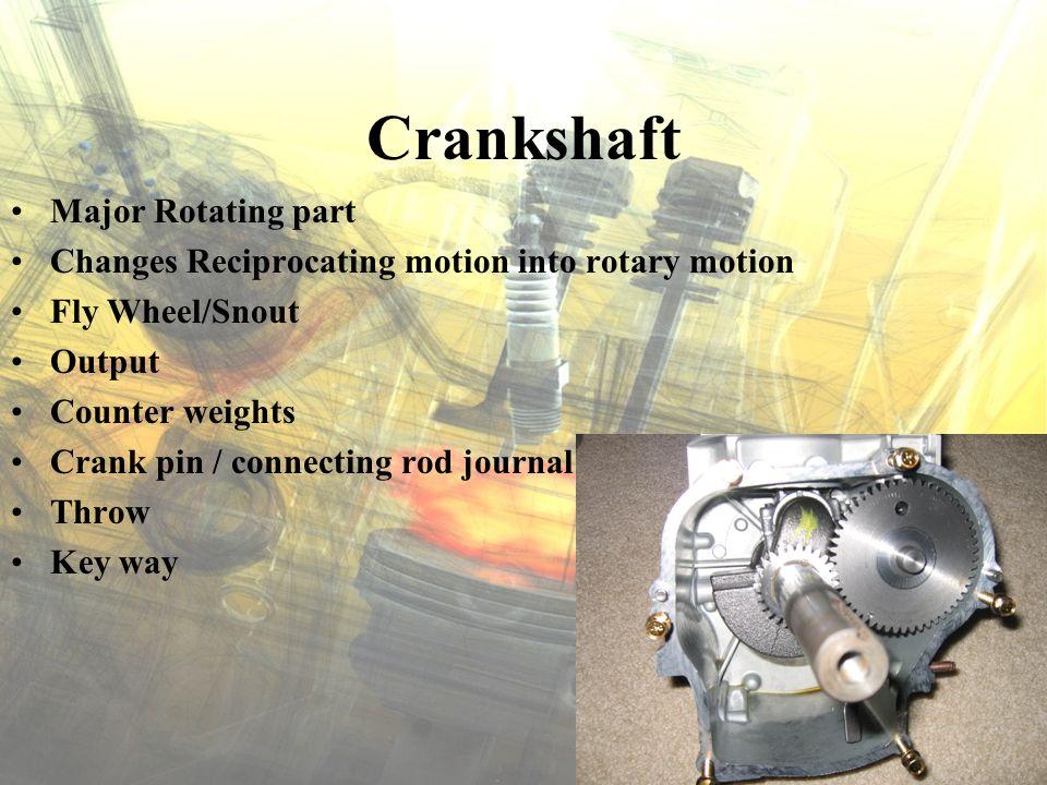 Crankshaft Major Rotating part