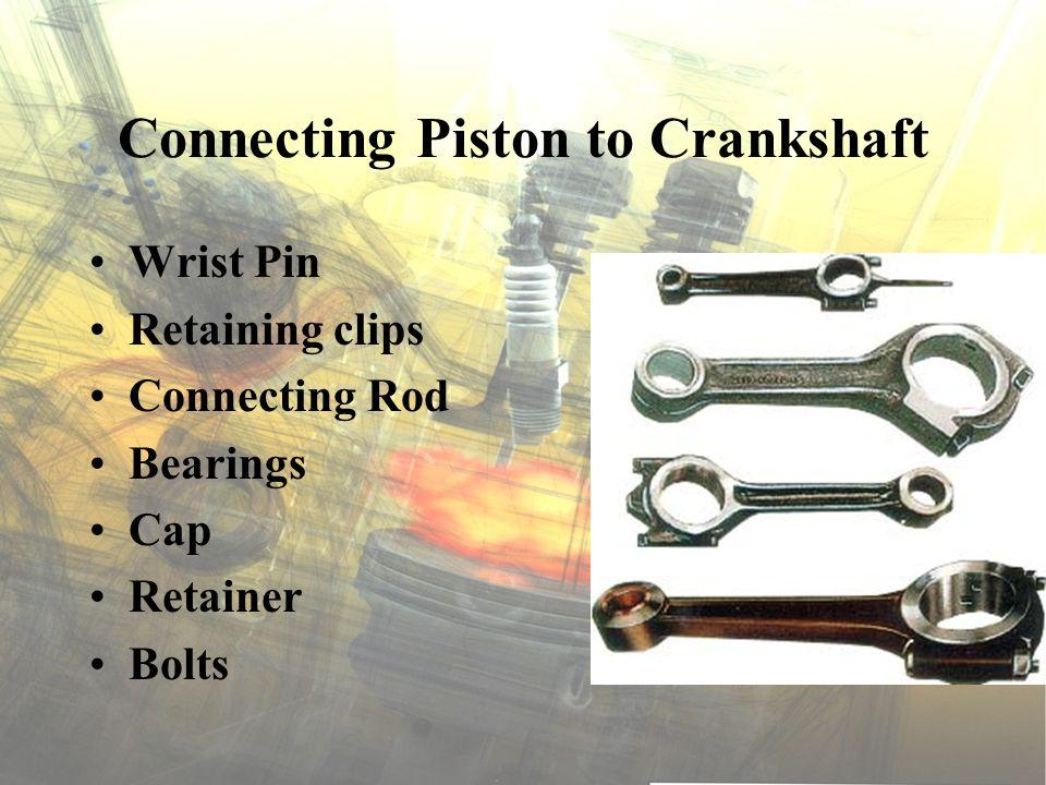 Connecting Piston to Crankshaft