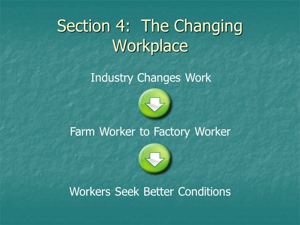 Section 4: The Changing Workplace