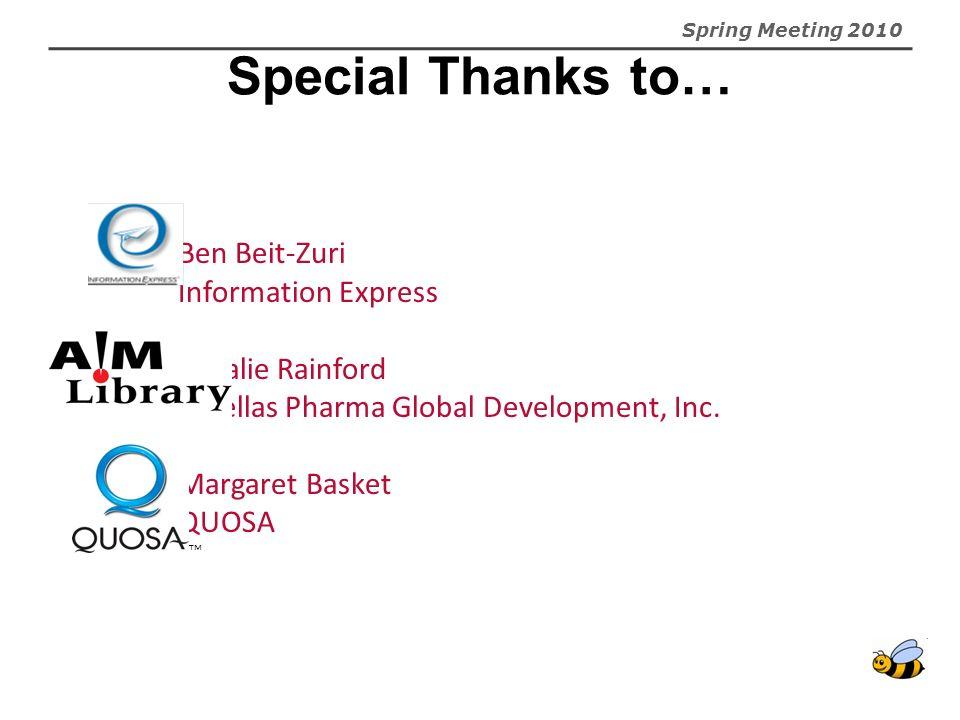 Astellas Pharma Global Development, Inc. Margaret Basket QUOSA