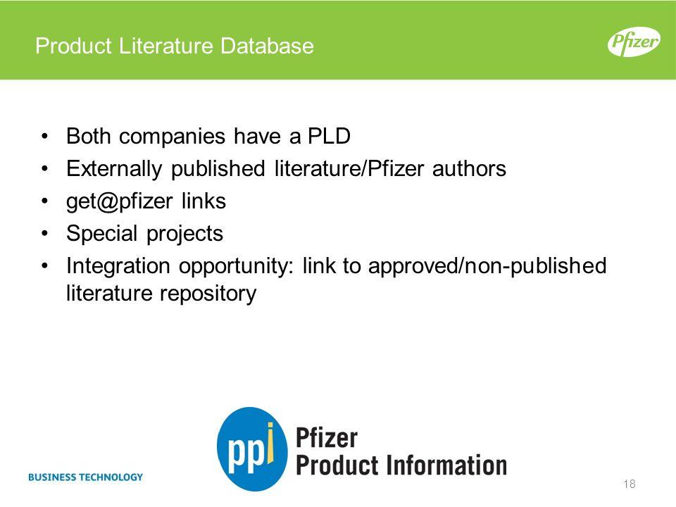 Product Literature Database