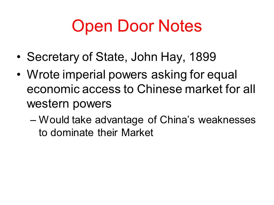 Open Door Notes Secretary of State John Hay 1899  sc 1 st  SlidePlayer & CHAPTER 22 SHADOWS OVER THE PACIFIC: EAST ASIA UNDER CHALLENGE ... pezcame.com