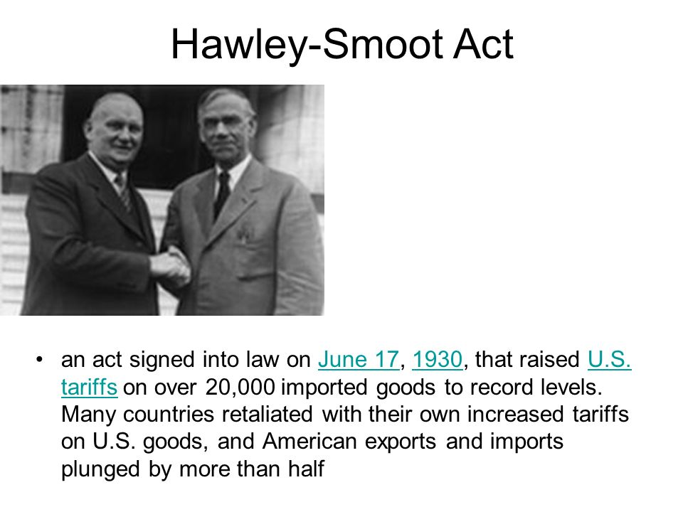 Hawley-Smoot Act