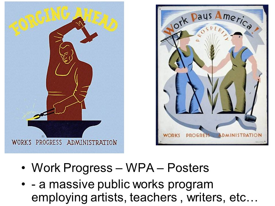Work Progress – WPA – Posters