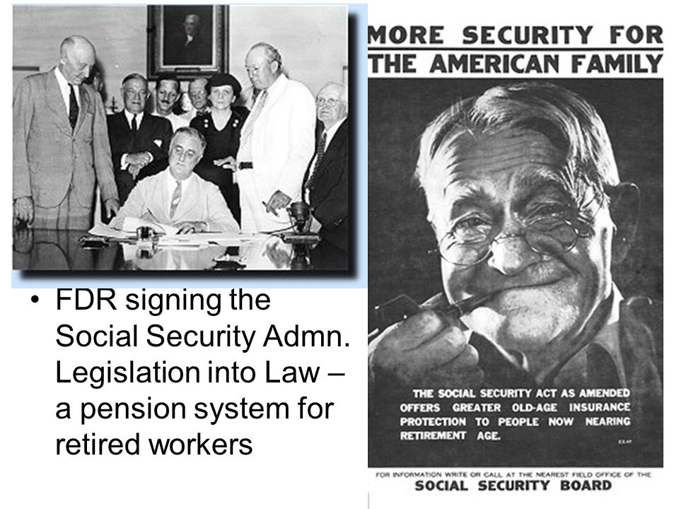 FDR signing the Social Security Admn