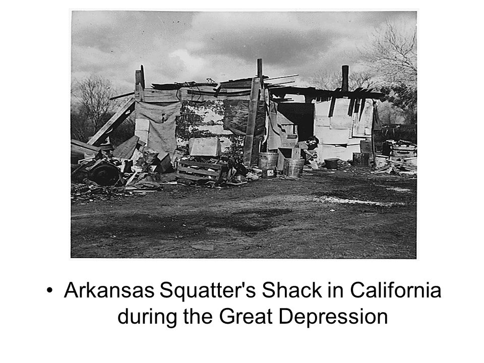 Arkansas Squatter s Shack in California during the Great Depression