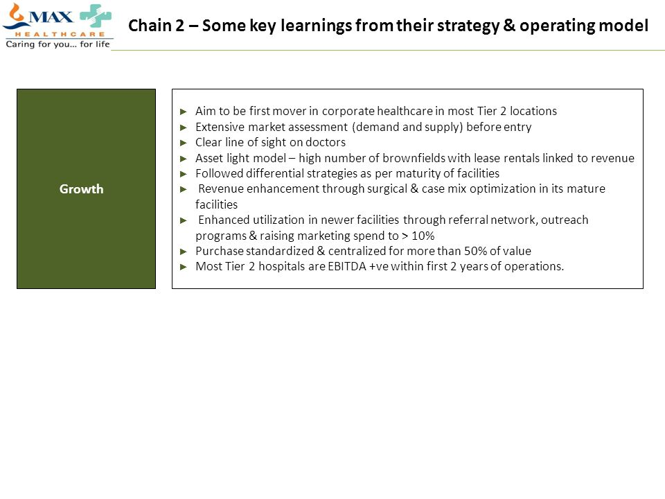 Chain 2 – Some key learnings from their strategy & operating model