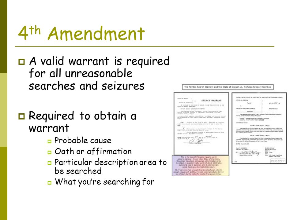 Basic search and seizure warrant requirements - Custom paper