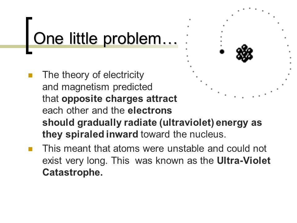 One little problem…