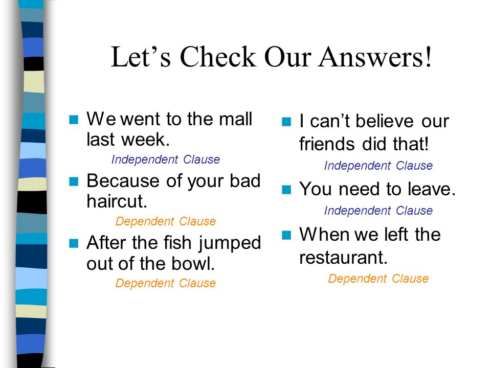 Let's Check Our Answers!