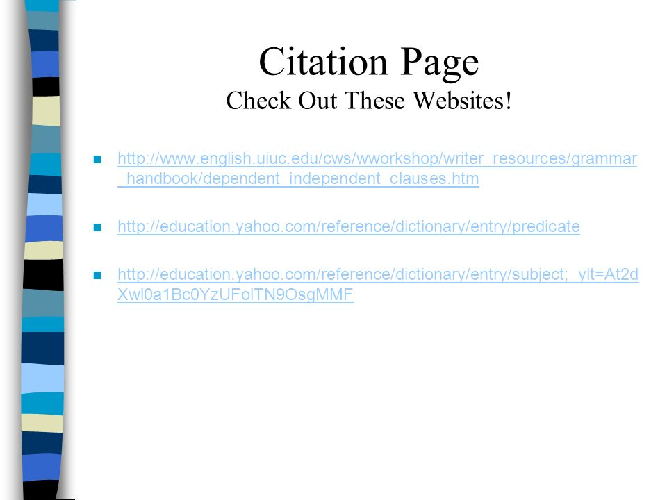 Citation Page Check Out These Websites!