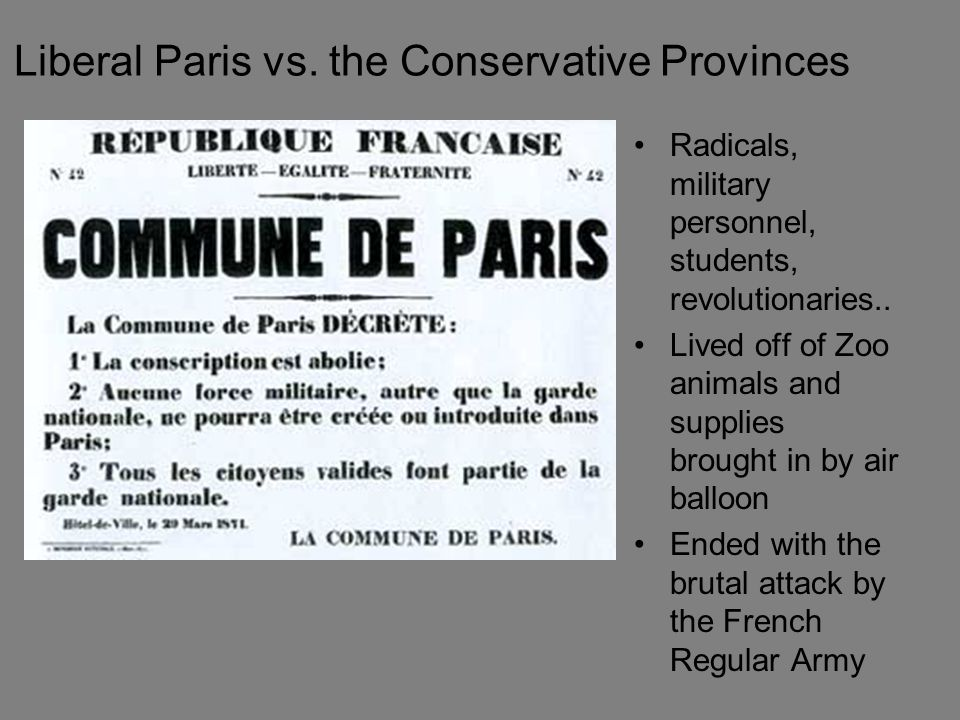 Liberal Paris vs. the Conservative Provinces