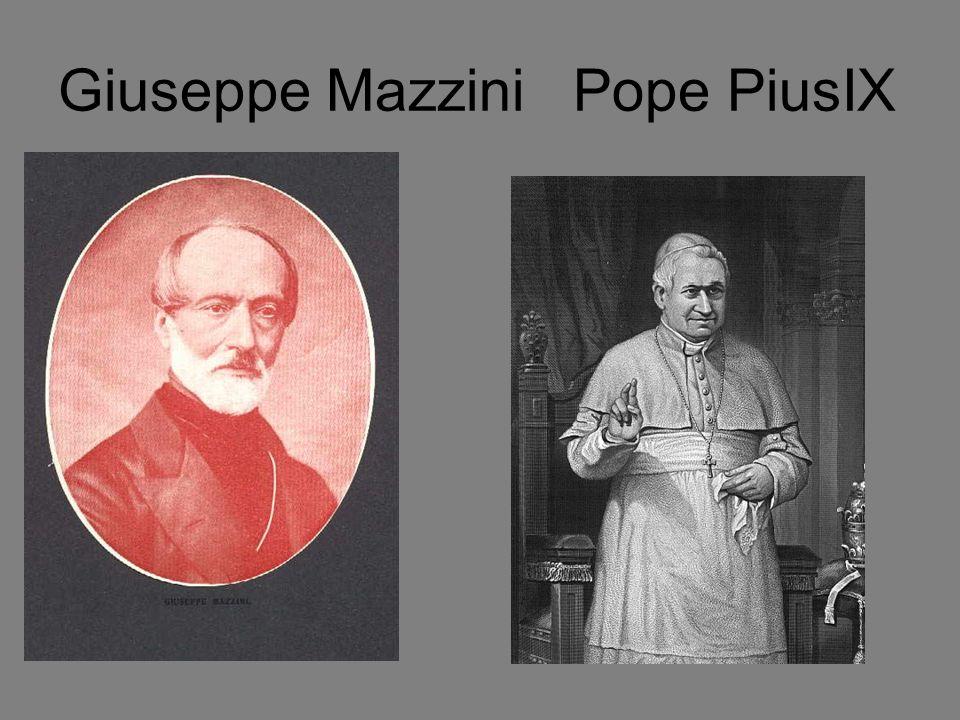 Giuseppe Mazzini Pope PiusIX