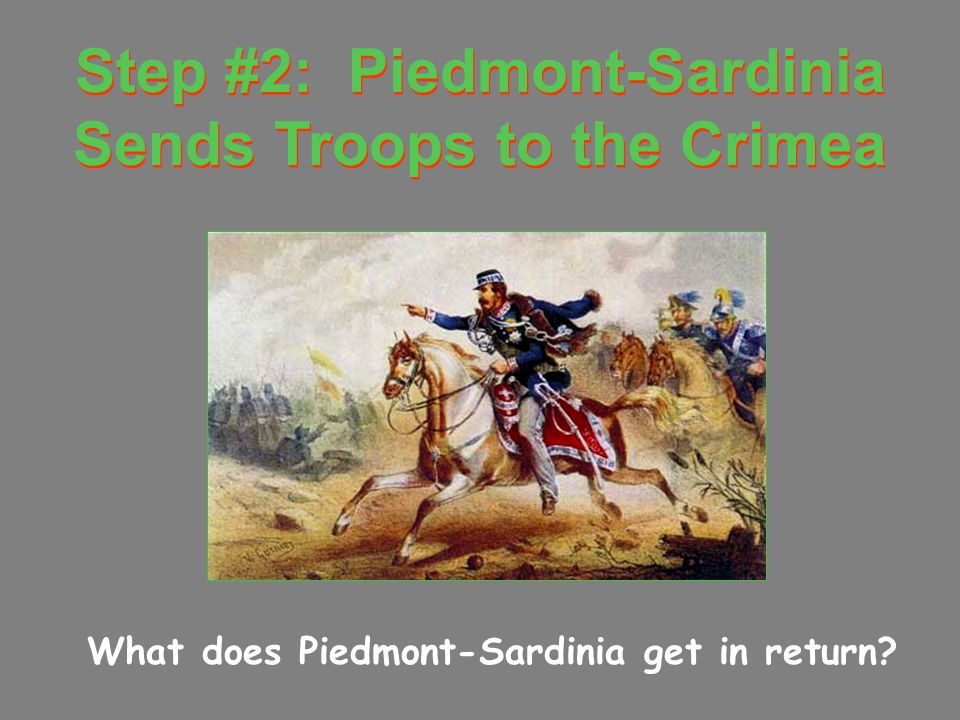Step #2: Piedmont-Sardinia Sends Troops to the Crimea