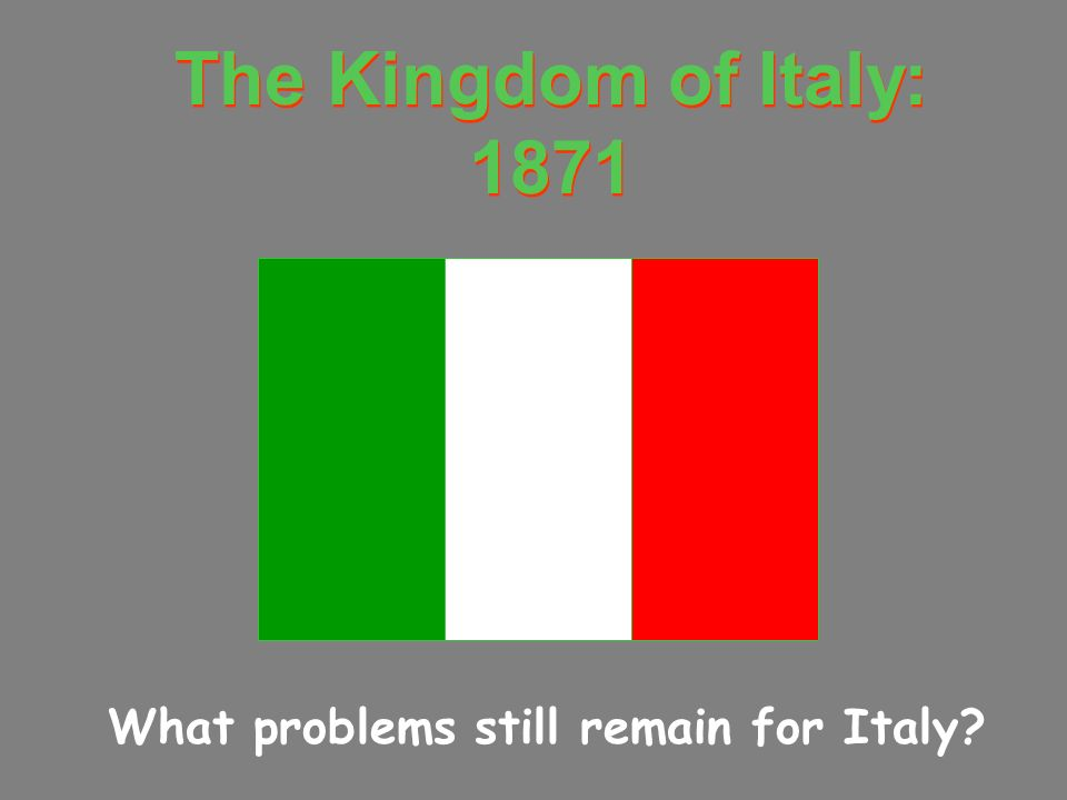 What problems still remain for Italy