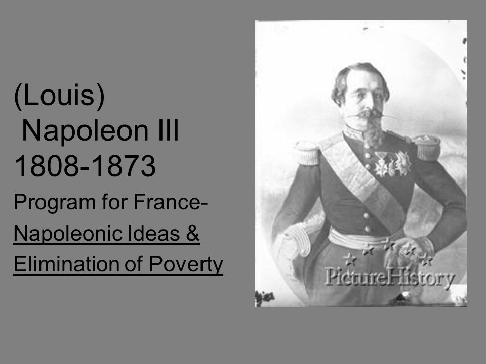 Program for France- Napoleonic Ideas & Elimination of Poverty
