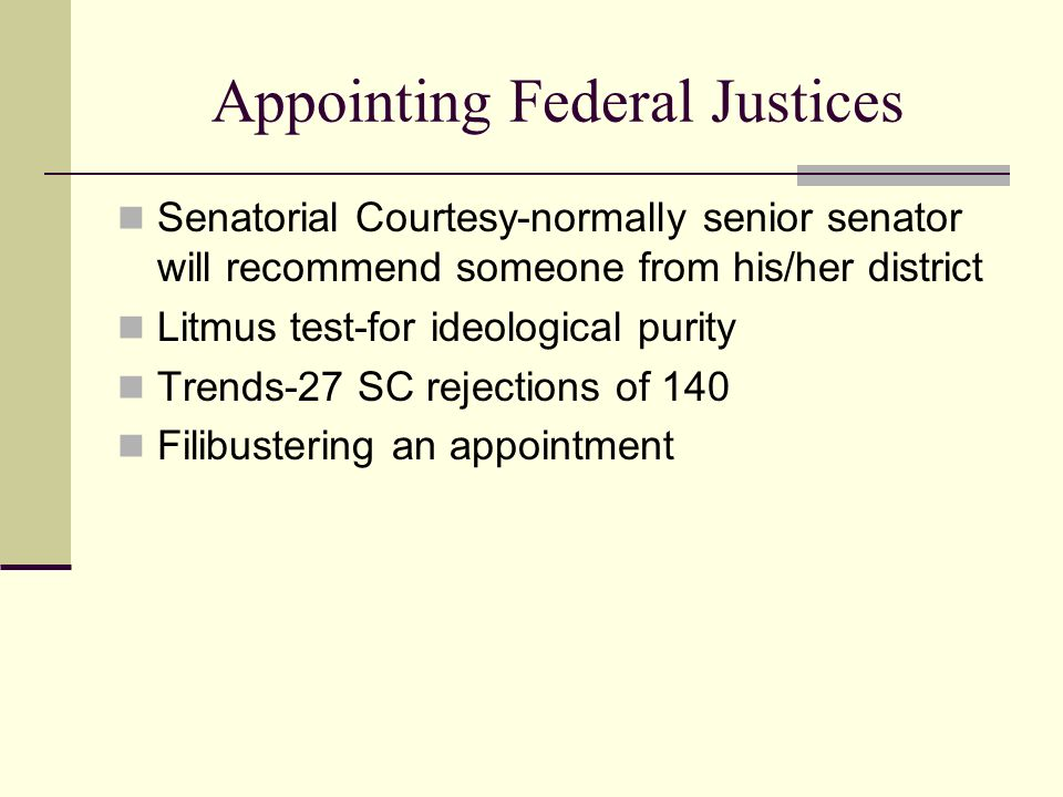Appointing Federal Justices