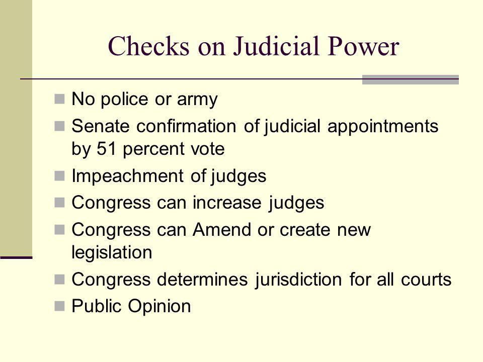 Checks on Judicial Power