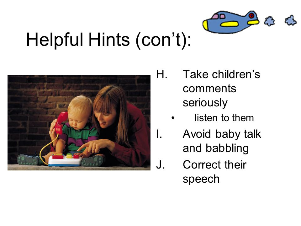 Helpful Hints (con't):