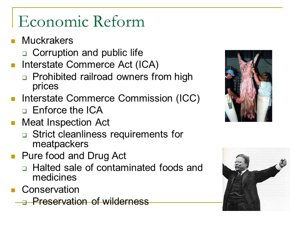 Economic Reform Muckrakers Corruption and public life