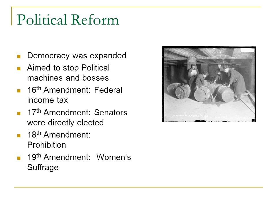 Political Reform Democracy was expanded