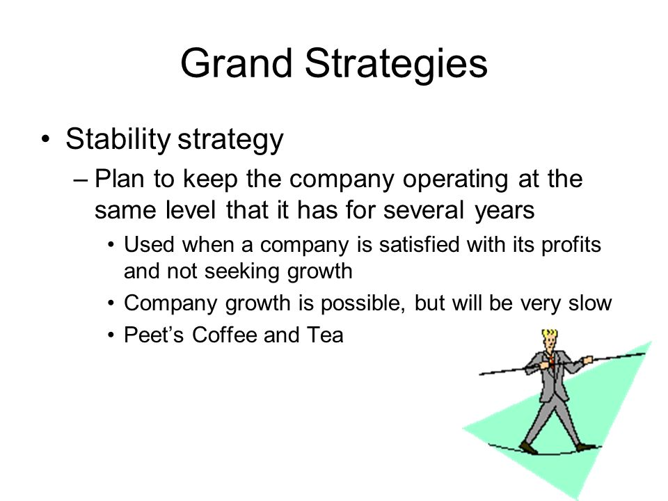 Grand Strategies Stability strategy