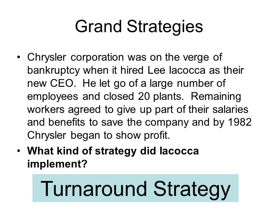 Turnaround Strategy Grand Strategies