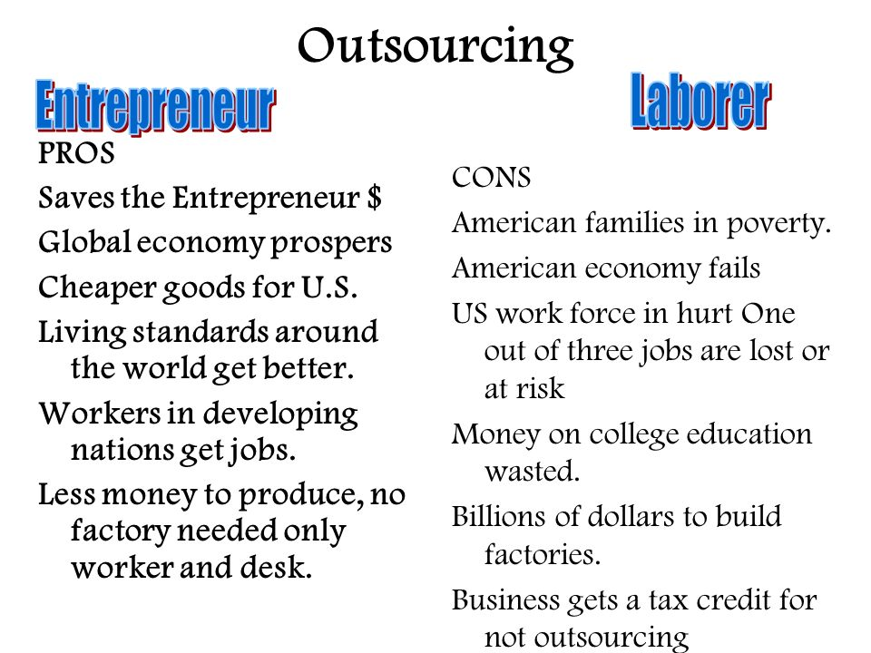 compare and contrast outsourcing of american jobs Compare definition compare, contrast (see usage note at the current entry) the american heritage® idioms dictionary.