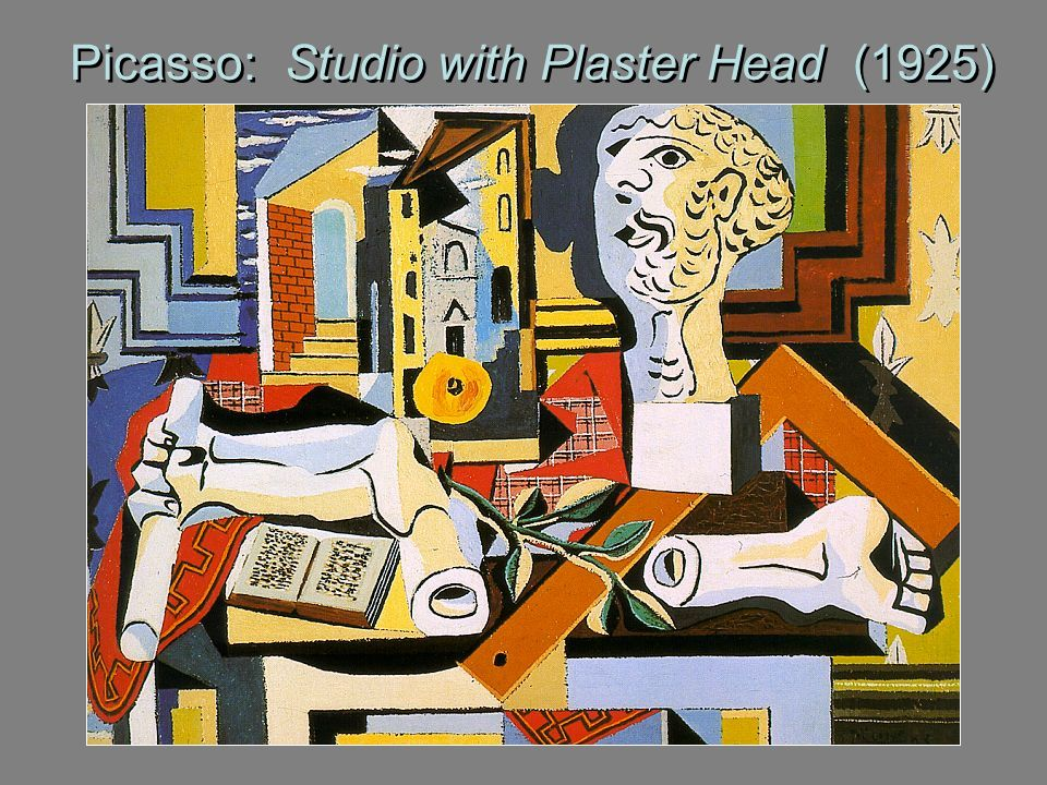 Picasso: Studio with Plaster Head (1925)