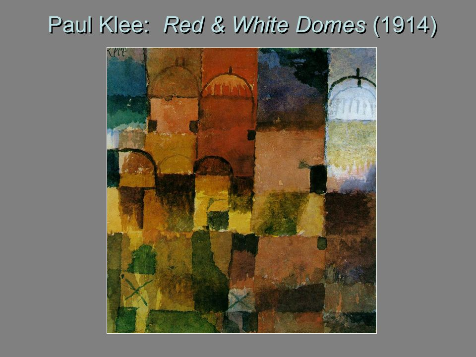 Paul Klee: Red & White Domes (1914)