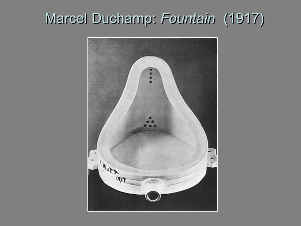 Marcel Duchamp: Fountain (1917)